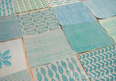 Siebdruck nach ©Müllerin Art Schrift Design, Stencil Printing, Wood Blocks, Bunt, Stencils, Carving, Texture, Quilts, Blanket