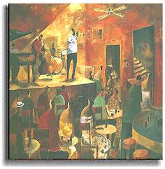 <br> <li>Using red to convey passion, Didier Lourenco shows us the underground world of jazz   <li>Textures and color combine to create the sensation of rhythm <li>Individually handcrafted and recreated in amazing detail