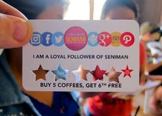 Loyalty scheme at Seniman Coffee