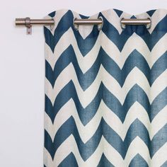 Product Image for Decorinnovation Linen Blend Chevron Grommet Top Window Curtain Panel Pair 2 out of 4