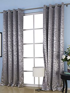 (One Pair) Jacquard Belonging Room Darkening Thermal Curtain