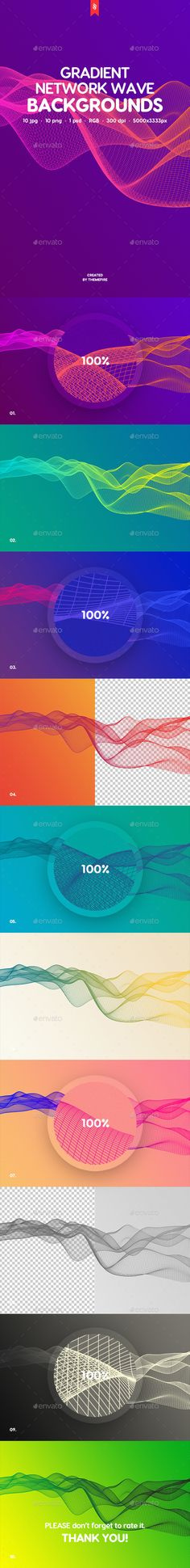 Gradient Network Wave Backgrounds