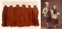 Samples of cotton dyed red, 1748 Departmental Archives of the Seine-Maritime , Rouen r. : Portrait of Ulrich and Salome Bräker, Joseph Reinhart, 1793, History Museum, Bern Zeno.org Salome Bräker has skeins of cotton under his right arm.