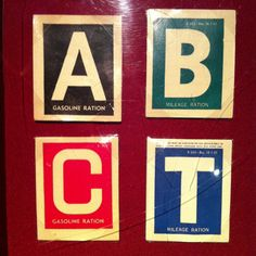 Different gas stickers meant different things. 'A' stickers were the most common, and allowed for 3-4 gallons of gas per week. Green 'B' stickers were given to cars that were deemed essential to the war-effort. These cars could receive up to 8 gallons a week.  Red 'C' stickers were for physicians, railroad workers, and mail carriers. 'T' was for truckers, who were given unlimited amounts of fuel.  Sources: http://www.nww2m.com/ http://www.ameshistory.org/exhibits/events/rationing.htm