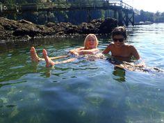 Enjoying a swim on Bowen Island