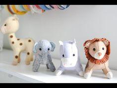 Aula de feltro - bichinho safari 3D leão - YouTube
