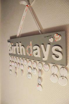Pivoine et Caramel   Mon calendrier d'anniversaire