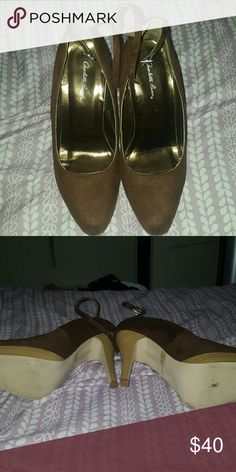 Like new heels from Charlotte Russe Brown. Soft material. Worn a couple times. Charlotte Russe Shoes Heels