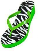 Womens Fashion Wedge Sandals Thongs Flip Flops (6, Green 1259)