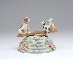 Cosmos-SA49112-Fine-Porcelain-Puppies-on-Seesaw-Musical-Figurine-4-1-4-Inch