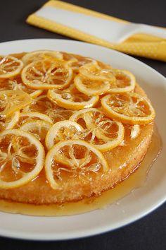 ✔ Bolo com limão siciliano em calda  / Candied lemon cake