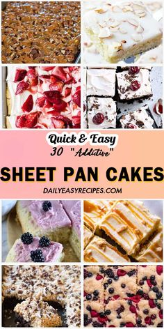 30 Sheet Cakes You Should Never Miss – My Recipes and Meal Plans Just Desserts, Delicious Desserts, Dessert Recipes, Sheet Cake Recipes, Frosting Recipes, Strawberry Sheet Cakes, Brownies, Baking Recipes, Healthy Recipes