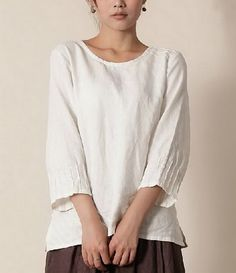 Round Collar Fine Line Shirt Round Collar Fine Line Shirt gift for her - $38.00 : Original Fashion in Comfortable Fibers - Organic Cotton, Linen, Silk, Cashmere, Bamboo and More | Zeniche.com