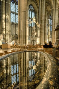 The blessing pool, Canterbury Cathedral, Kent, England