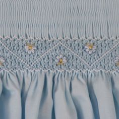 Close view of Blue dress. From  Marianela Collado Smocking board