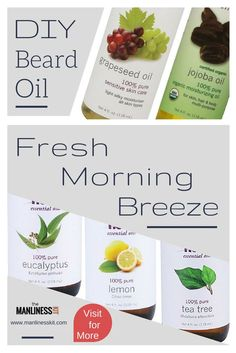 If you wear a beard and like DIY projects, then you might want to know how to make beard oil yourself. The fresh morning breeze is a beard oil recipe that is easy to make and gives you a refreshing feeling. Please visit for information on how to DIY htt Coconut Oil For Teeth, Coconut Oil For Dogs, Benefits Of Coconut Oil, Diy Beard Oil, Beard Oil And Balm, Essential Oil Carrier Oils, How To Make Oil, Oil Light, Beard Grooming