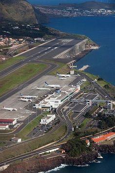 Aeropuerto de Madera en Santa Cruz-Portugal