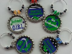 NFL wine charms pick your team, fits on any glass with a stem..great gifts, Christmas Gifts, birthday gifts and party favors