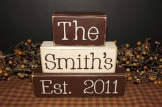 Custom Personalized Family Name Primitive by PrimitiveHodgePodge, $24.00
