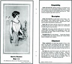 Spirella brassiere from http://commons.wikimedia.org/wiki/File:SpirellaAccessories1913page26_27.png