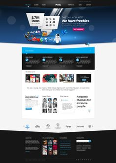 http://dajydesigns.deviantart.com/art/Pixel-Studio-Premium-Website-Template-Light-308468438