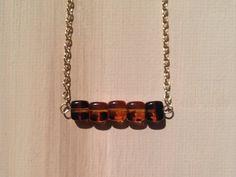 Simply beautiful tortoise shell square bead bar by lovelybylara, $10.00