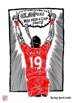 The Kop Sport Comic :27-9-2017 : black ink drawing Illustration #Liverpool #TheKopArtsStudio #liverpoolfc #football #thisisanfield #lfc