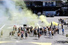 POLÍCIA MILITAR ESTADO DO RIO DE JANEIRO (PMERJ) - BATALHÃO DE POLÍCIA DE CHOQUE - Treinamento distúrbios civis.  http://umaincertaantropologia.org/tag/policia/
