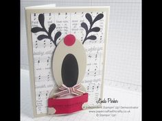 Die Cut Rudolph The Red Nosed Reindeer Card - Stampin' Up! Style - YouTube