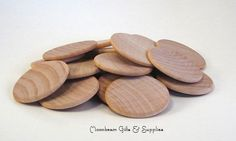 25 Wood Discs Wooden Discs Natural 1.5 Coin   Quantity: 25 Wooden Coins  These discs or coins are perfect for magnets, chore charts, game pieces,