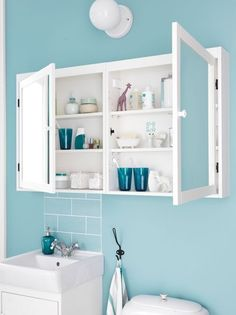 silveran cabinet - available in brown wood - mount side by side for more storage and big mirror Ikea Bathroom, Beach Bathrooms, Small Bathroom Storage, Family Bathroom, Grey Bathrooms, Master Bathroom, Ikea 2015, Ikea Cabinets, Mirror Cabinets