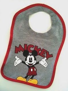 Bib from a kid's t-shirt for EASY on and off.