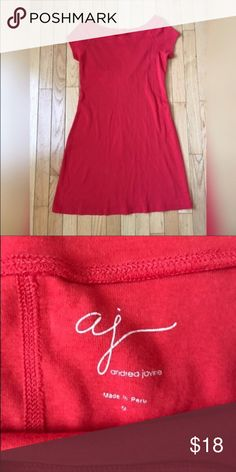 Red T-shirt Dress Cute Red T-shirt dress!  NWOT.  Washed, but never worn. Dresses