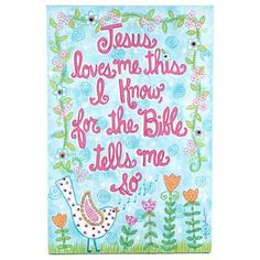 Jesus Loves Me This I Know Canvas Art | Hobby Lobby