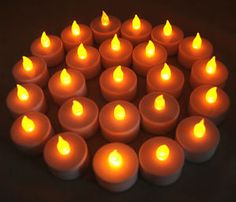 $7.49 for 24 LED Flameless Amber Colored Battery Operated Tealights. Free Shipping