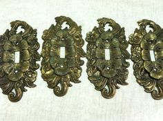 ReSeRvEd for Ruby Vintage Set 0f 4 Ornate Antique by ssmith7157