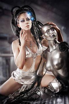 Cyber love by =Ophelia-Overdose, futuristic clothing, cyber girl repinned by www.BlickeDeeler.de