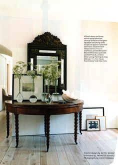 Table in Designer Betsy Brown's home