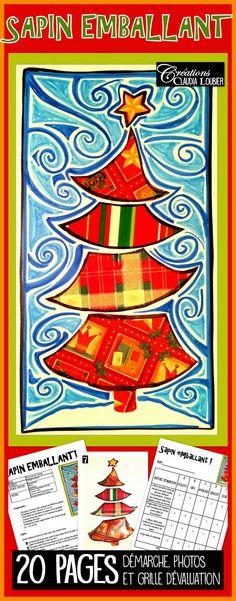 Voici une façon originale de faire une oeuvre de Noël avec vos élèves. Ce projet est idéal pour réaliser une carte. Vous aurez besoin de matériel simple comme du feutre permanent, du feutre de couleur ordinaire et du papier emballage de Noël. Comme dans tous mes projets, la démarche, les photos explicatives et la grille d'évaluation sont comprises dans le document. Pour favoriser la diversité dans les réalisations, 6 exemples de sapin sont en annexe.