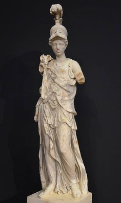 Statue of Athena wearing a Corinthian helmet, the aegis and Gorgoneion (head of a Gorgon), AD 180-190 (torso; supplementations of the Renaissance and Baroque era).