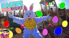 EASTER EGG HUNT With The EASTER BUNNY at the PLAYGROUND!  Chuck E Cheese...