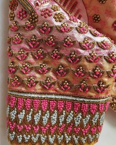 Traditional Blouse Designs, Simple Blouse Designs, Silk Saree Blouse Designs, Bridal Blouse Designs, Blouse Patterns, Zardosi Work Blouse, Hand Work Embroidery, Zardosi Embroidery, Indian Embroidery Designs