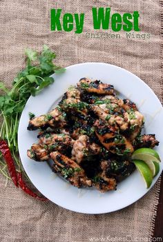 Key West Chicken Wings #tailgating #football #food #recipe #grilling