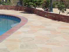 Concrete Pool Decks | Multicolored Stamped Concrete Pool Deck | Flickr - Photo Sharing!