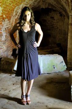 Asymmetrical Black Dress by Jondie | JONDIE
