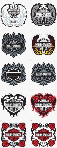 Harley-Davidson Emblem Designs Here are two emblems designed for Harley. Harley-Davidson Emblem Designs Here are two emblems designed for Harley. These logos needed to translate into an emb Harley Davidson Shirts, Harley Davidson Chopper, Harley Davidson Street Glide, Harley Davidson Sportster, Vintage Harley Davidson, Harley Davidson Kunst, Harley Davidson Kleidung, Harley Davidson Tattoos, Harley Davidson Wallpaper