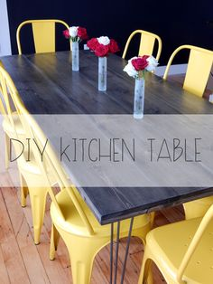 I had a great time making our home bar so when Amber asked me to make our kitchen table, I was pretty excited. Total table cost: $280. We enjoy making our furniture because it's half the cost and w...