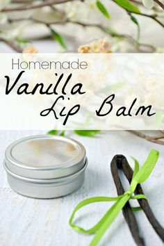 Make your own sweet homemade Vanilla Lip Balm! Only a few ingredients and you can make some quickly and inexpensively!