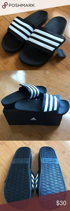 07fc8777f New Men Adidas Slides Not used with tags Men Adidas Slides Contoured  Footbed Adjustable upper strap