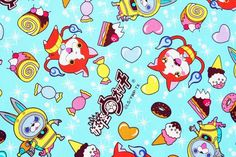 Check out this item in my Etsy shop https://www.etsy.com/listing/278184664/yokai-watch-character-fabric-made-in